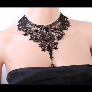 Black Lace Chocker Necklace